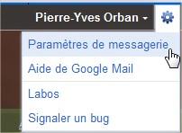 Paramètres messagerie Gmail
