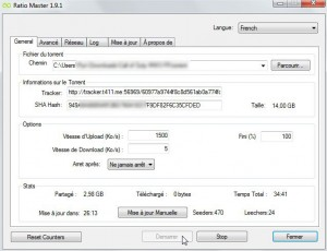 Augmenter ratio torrent