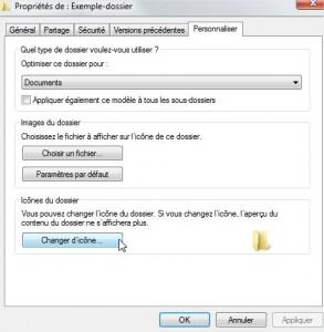 Modifier icône dossier