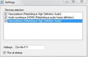 Changer périphérique audio