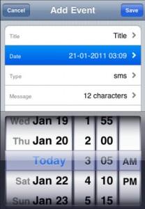 Programmer envoi sms Iphone