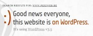 Utilisation WordPress