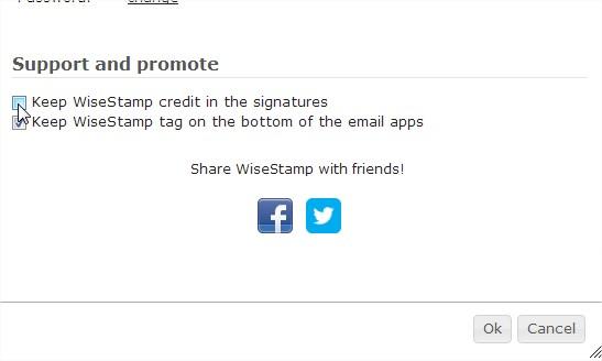 Supprimer lien WiseStamp