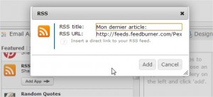 Flux RSS dans signature email