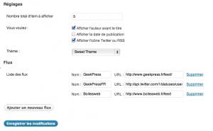 Mélanger plusieurs flux RSS avec Simple Feed Sorter