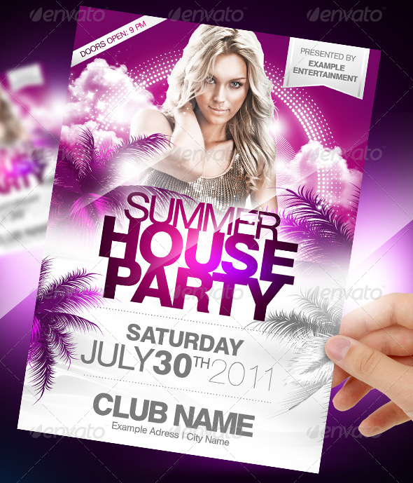 Affiche summer party Photoshop