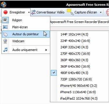 Enregistrer vidéo écran