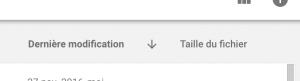 Google Drive trier gros fichiers