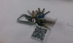 porte clé QR code
