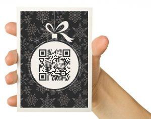 QR code sur carte de voeux