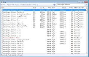 Songr : téléchargement de mp3