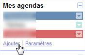 ajouter agenda google