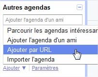 Google Agenda Ajouter par url