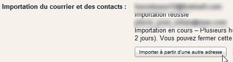 Importation autre adresse email Gmail