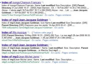 Recherche mp3 Google