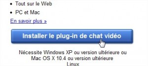 Installer plugin chat vidéo Google+