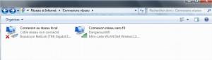 Connexions réseau Windows 7