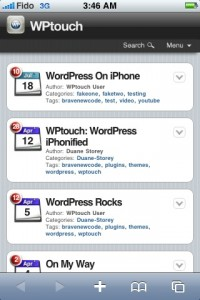 Version mobile wordpress