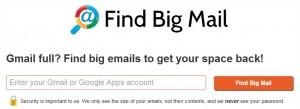 Libérer de l'espace Gmail avec FindBigMail