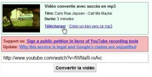 télécharger musique Youtube