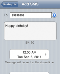Programmer message Iphone
