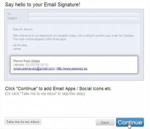 Réseaux sociaux dans signature email