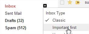 Gmail boite de réception