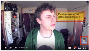 Un CTA pour plus de vues Youtube